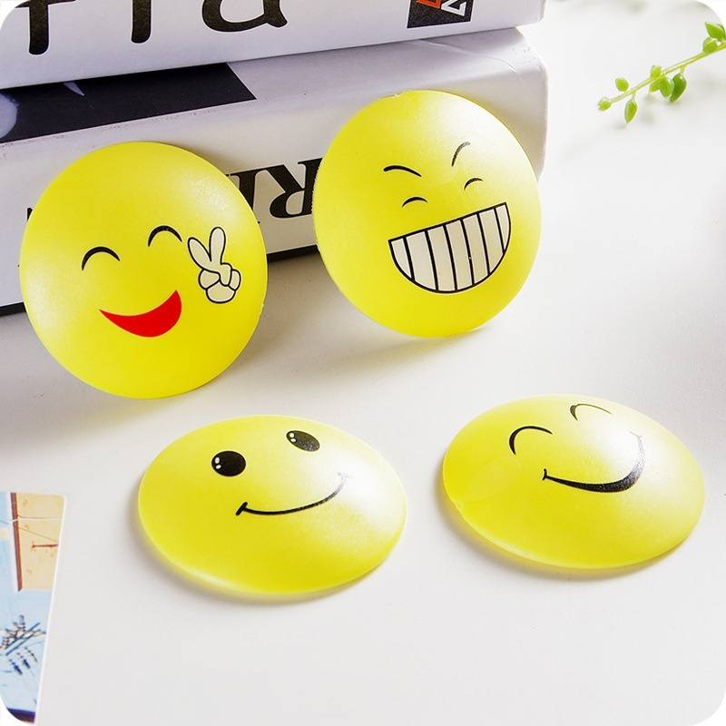 Rubber Door Handle Knob Emoji Crash Pad Wall Self Adhesive Guard Stopper-1
