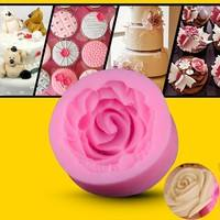 Dsi1-Popular Mini Rose Shapes Chocolate Mould Cake Pastry Candy Molds Baking Tools DIY