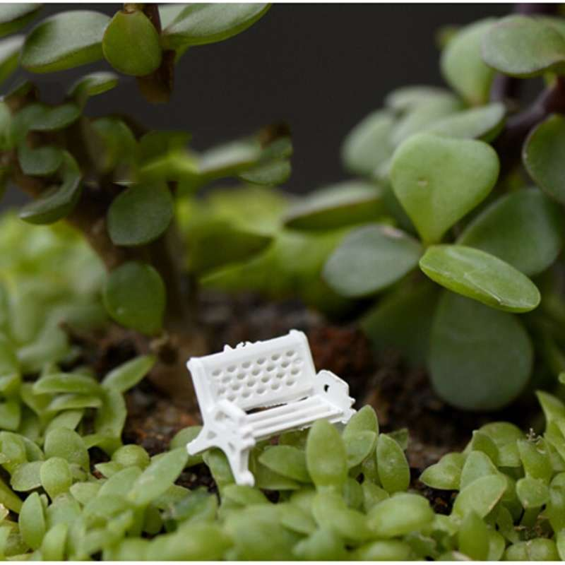 1pcs Garden Ornament Miniature Park Seat Bench Craft Fairy Dollhouse Decor Fashion Online-2