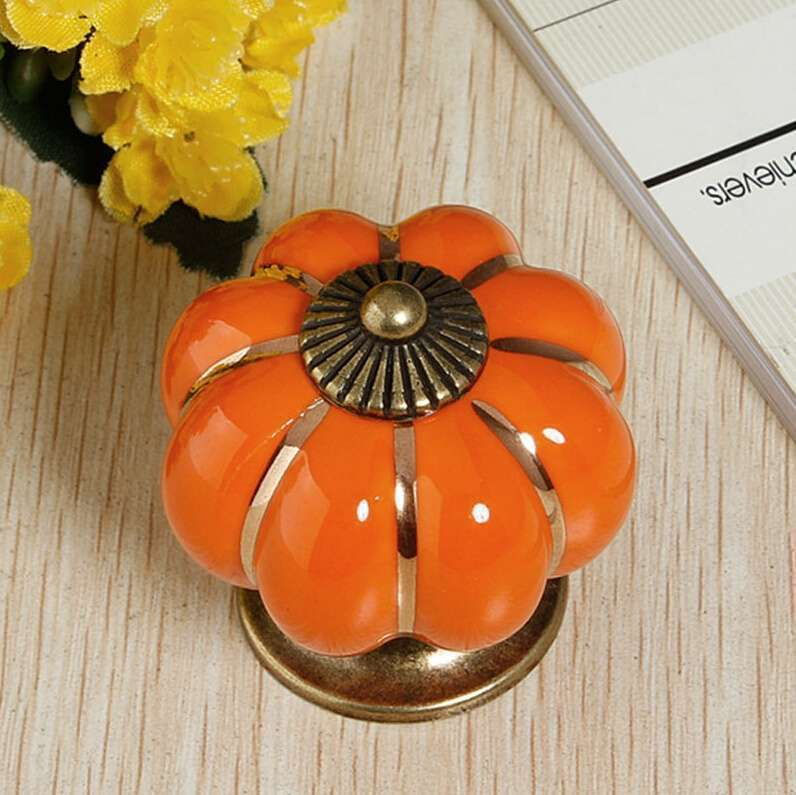 Vintage Ceramic Door Knobs Cabinet Drawer Cupboard Kitchen Pull Handles Decoration Home-10