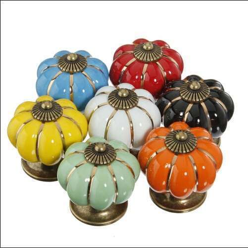 Vintage Ceramic Door Knobs Cabinet Drawer Cupboard Kitchen Pull Handles Decoration Home-3