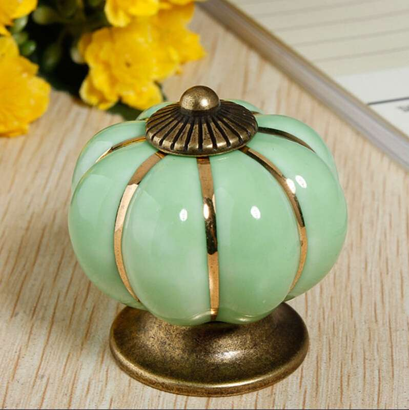 Vintage Ceramic Door Knobs Cabinet Drawer Cupboard Kitchen Pull Handles Decoration Home-9