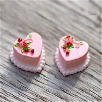 DwPz-Miniature Dollhouse Garden Craft Fairy Bonsai Decor Doll Heart Cake