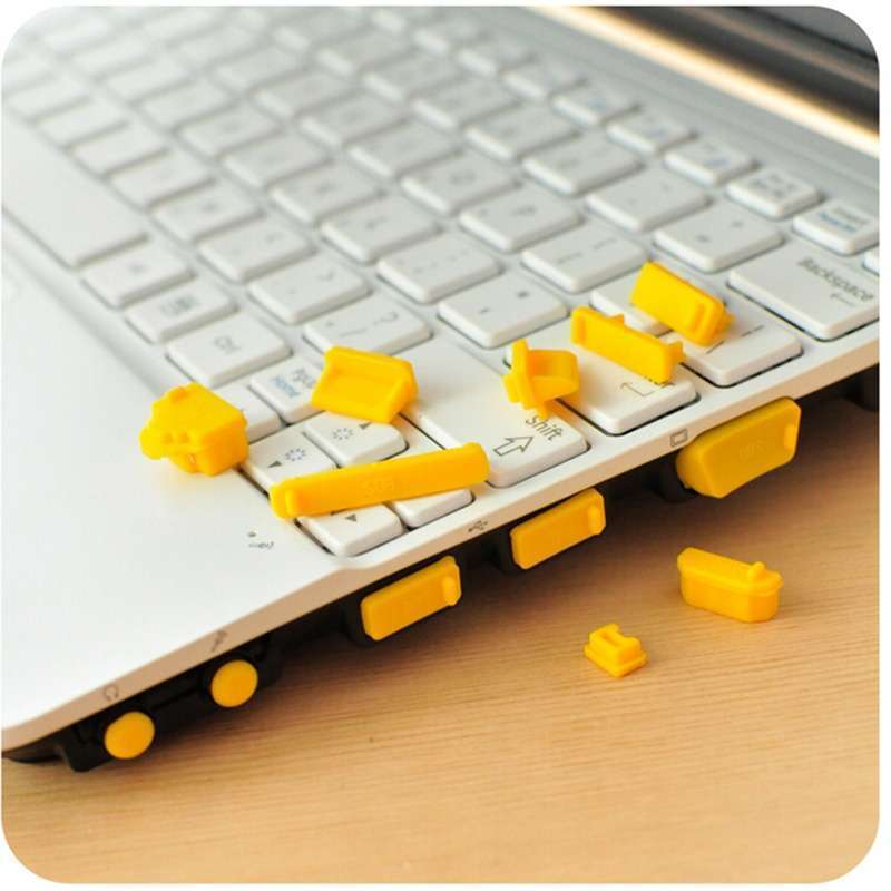 13 Pcs Universal Silicone USB HDMI Port Anti Dust Plug Cover For Laptop Notebook