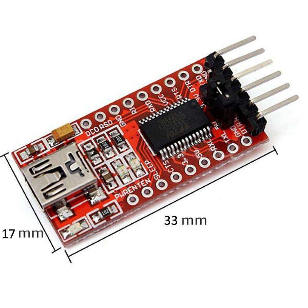 High Quality Mini Practical Converter FTDI FT232RL 3.3v 5v USB To TTL Serial Adapter Module For Arduino-1