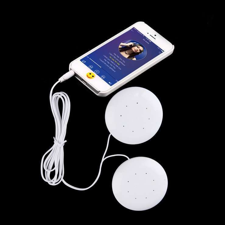 Mini White 3.5mm Pillow Speaker for MP3 MP4 Player iPhone iPod CD Radio  White