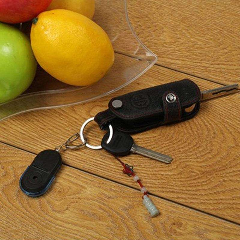 Wireless Anti-Lost Alarm Key Finder Locator Key chain Whistle Sound LED Light-2