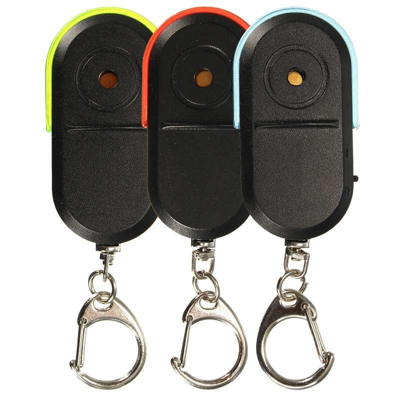 Wireless Anti-Lost Alarm Key Finder Locator Key chain Whistle Sound LED Light-3