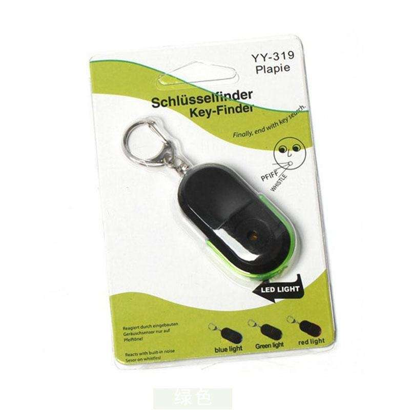 Wireless Anti-Lost Alarm Key Finder Locator Key chain Whistle Sound LED Light-4