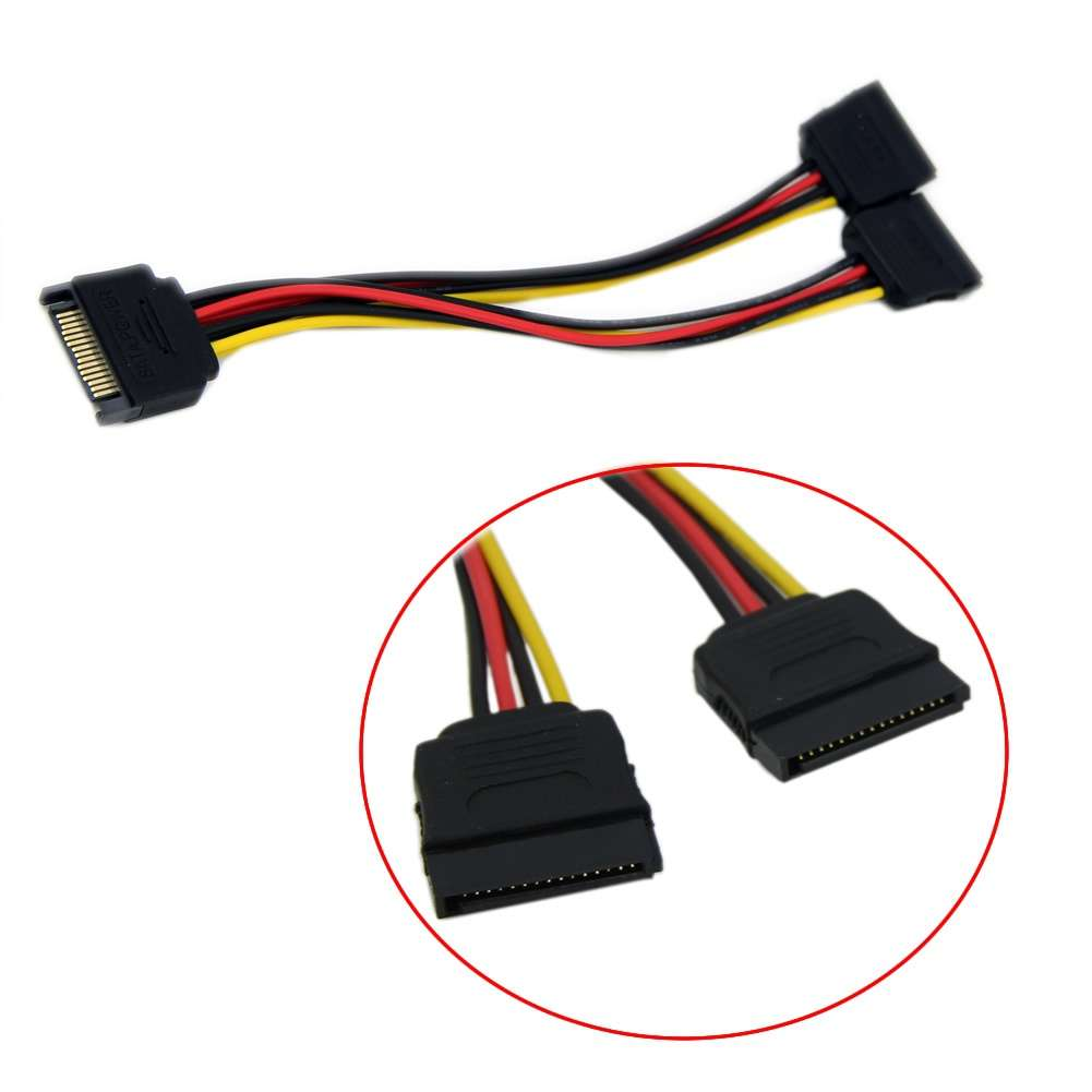 20cm SATA Power T/Y Splitter Extension Cable Adapter