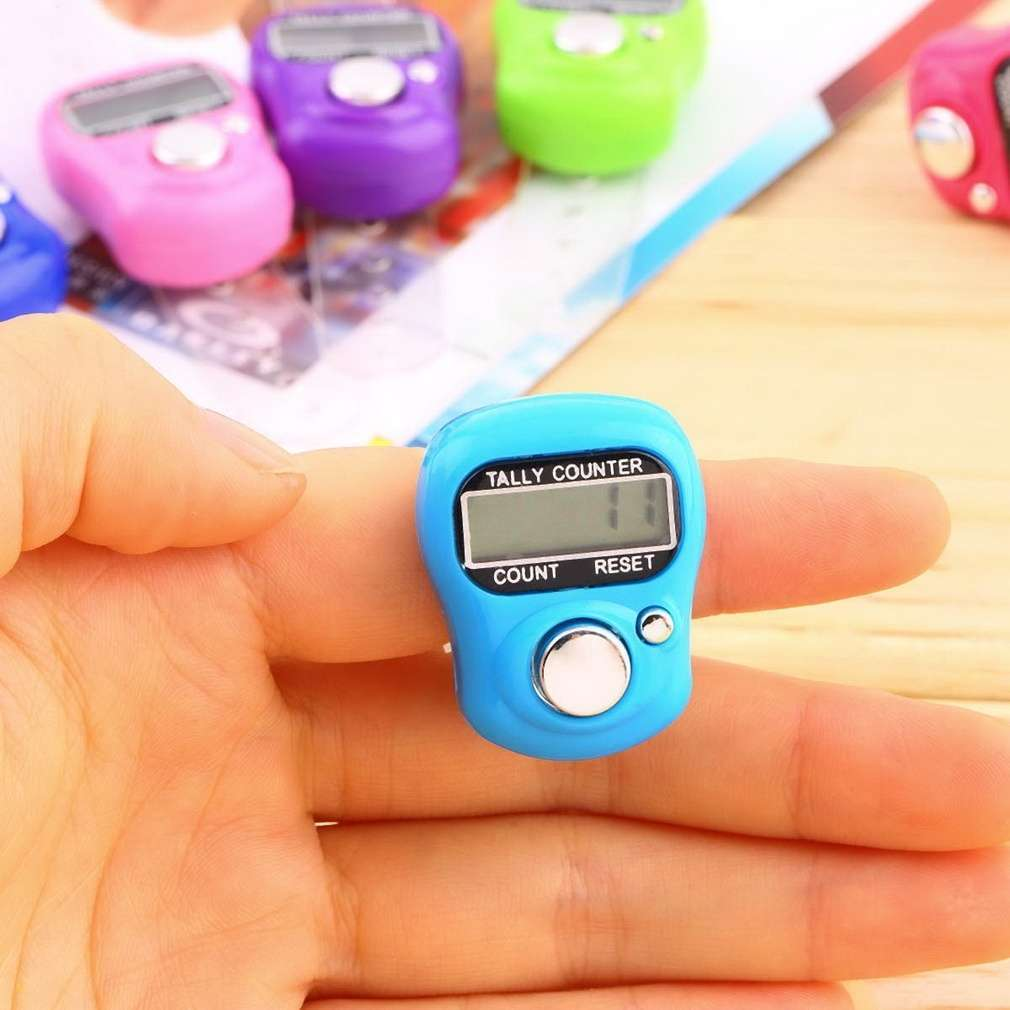 Stitch Marker And Row Finger Counter LCD Electronic Digital Tally Counter-1