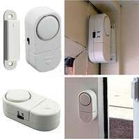 EokH-Self Adhesive Wireless Magnetic Sensor Burglar Door Window Entry Alarm