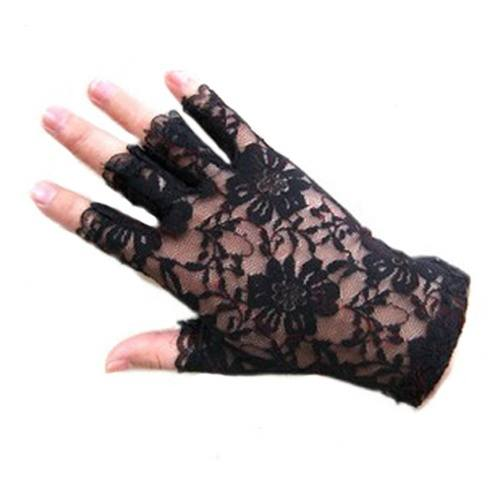 377f8dcf2 Women Lady Exquisite Goth Party Sexy Dressy Lace Gloves Mittens Finger Less