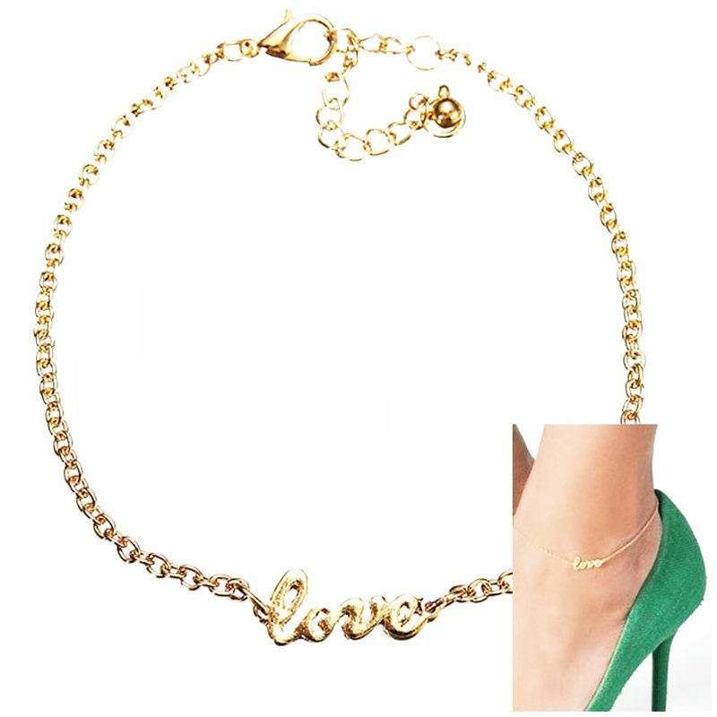 Best Elegant Sexy Anklet Foot Chain Ankle Bracelet Love Charm Sandal Jewelry-1