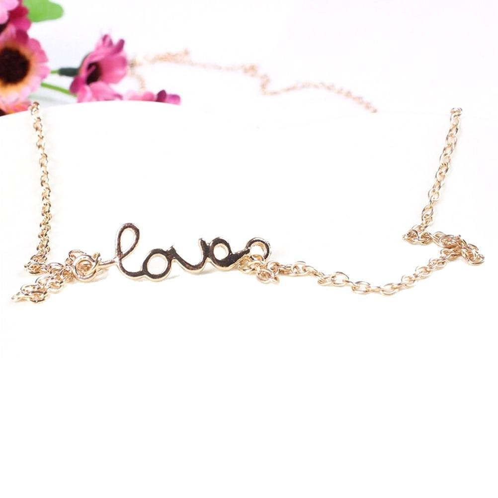 Sexy Bikini Waist Belly Body Chain Necklace Jewelry LOVE Letter Belt Funny-2