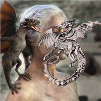 FIW1-Fashion Retro Song Of Ice And Fire Cool Targaryen Dragon Pendant Necklace