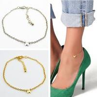 FLHR-1pc Adjustable Gold/Silver Butterfly Pendant Chain Anklet Ankle Bracelet