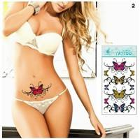 FOyS-Lotus Totem Temporary Tattoo Stickers Sexy Body Art Stickers Beauty Makeup Removable Transfer Simulation Waterproof Temporary Tattoo