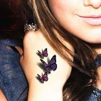 FZjT-Amazing Butterfly 3d Flash Temporary Tattoo Body Art Sticker 1 Sheet Tatoo Tatto 19*9cm Selfie Hottest EN71 High Quality