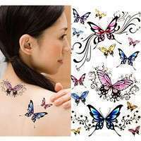 FbGZ-DIY Removable Waterproof Non-toxic Sexy Beauty Butterfly Body Art Tattoo Sticker