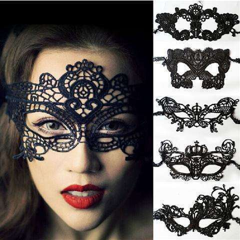 Sexy Lace Eye Mask Venetian Masquerade Halloween Ball Party Fancy Dress Costume (Color: Black)