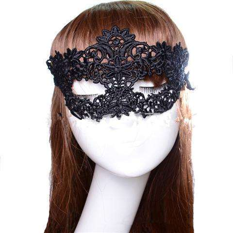 Sexy Lace Eye Mask Venetian Masquerade Halloween Ball Party Fancy Dress Costume (Color: Black)-12