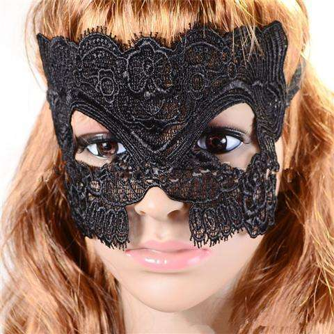 Sexy Lace Eye Mask Venetian Masquerade Halloween Ball Party Fancy Dress Costume (Color: Black)-13
