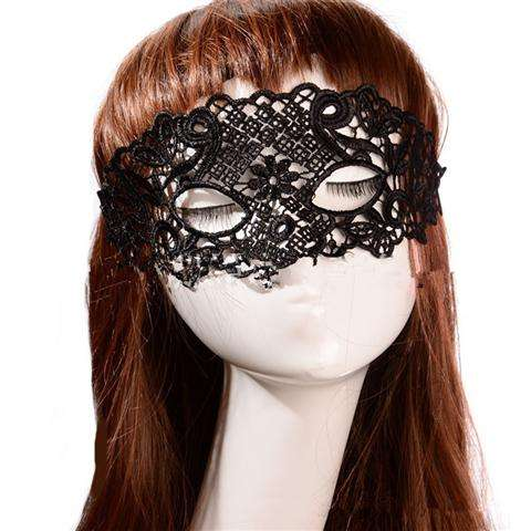 Sexy Lace Eye Mask Venetian Masquerade Halloween Ball Party Fancy Dress Costume (Color: Black)-14