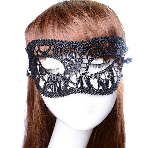 Sexy Lace Eye Mask Venetian Masquerade Halloween Ball Party Fancy Dress Costume (Color: Black)-16