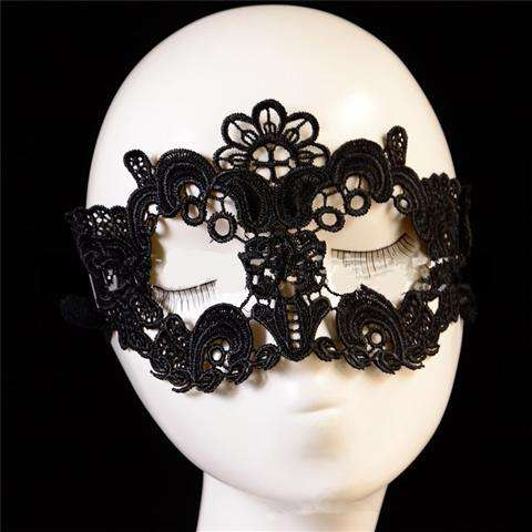 Sexy Lace Eye Mask Venetian Masquerade Halloween Ball Party Fancy Dress Costume (Color: Black)-19
