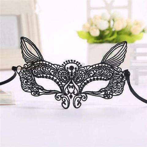 Sexy Lace Eye Mask Venetian Masquerade Halloween Ball Party Fancy Dress Costume (Color: Black)-24