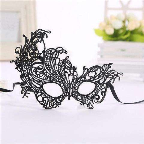 Sexy Lace Eye Mask Venetian Masquerade Halloween Ball Party Fancy Dress Costume (Color: Black)-25