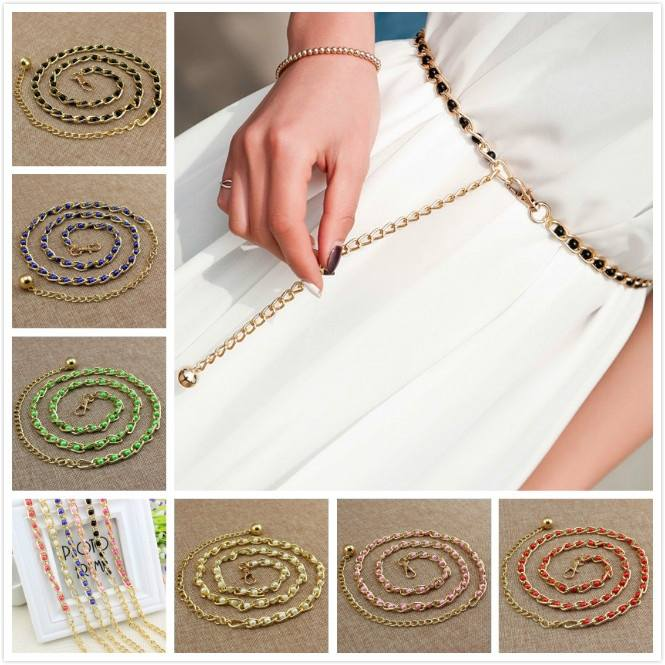 New Fashion Pearl Beads Waist Body Belt Women Waistband Strap
