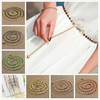FuGA-New Fashion Pearl Beads Waist Body Belt Women Waistband Strap