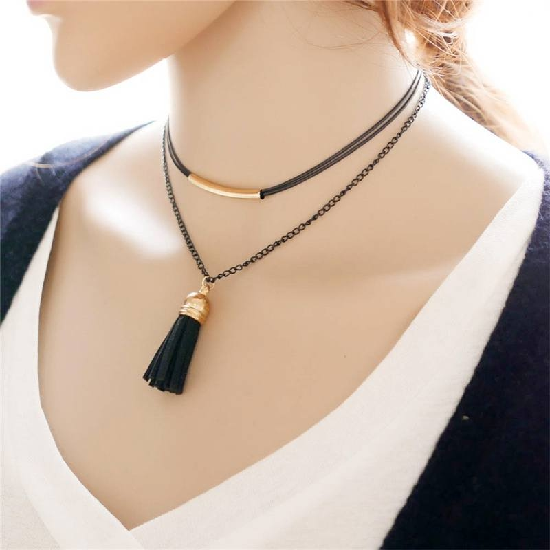 Charm New Arrival Charm Bohemia Sexy Black Leather Choker Necklace Jewelry Cheaper & Better