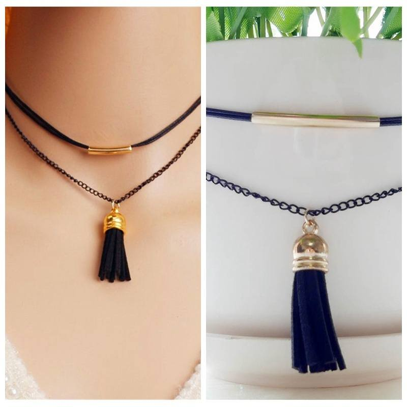 Charm New Arrival Charm Bohemia Sexy Black Leather Choker Necklace Jewelry Cheaper & Better-1