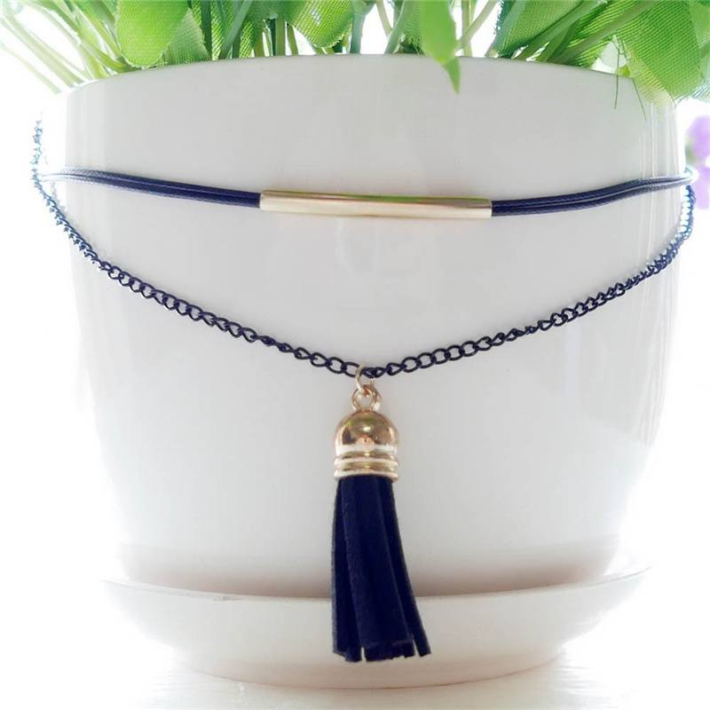 Charm New Arrival Charm Bohemia Sexy Black Leather Choker Necklace Jewelry Cheaper & Better-2