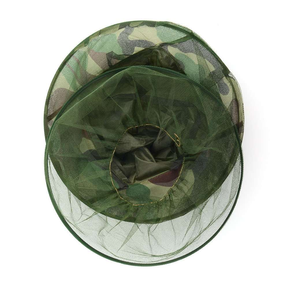 Insect Mosquito Net Mesh Face Fishing Hunting Outdoor Camping Hat Protector Cap-3