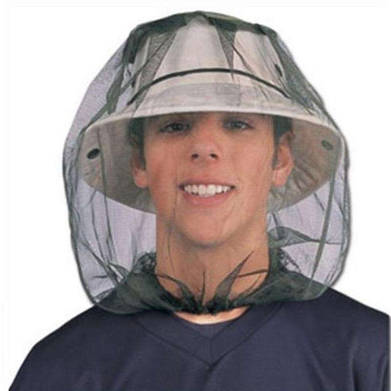 Insect Mosquito Net Mesh Face Fishing Hunting Outdoor Camping Hat Protector Cap-5