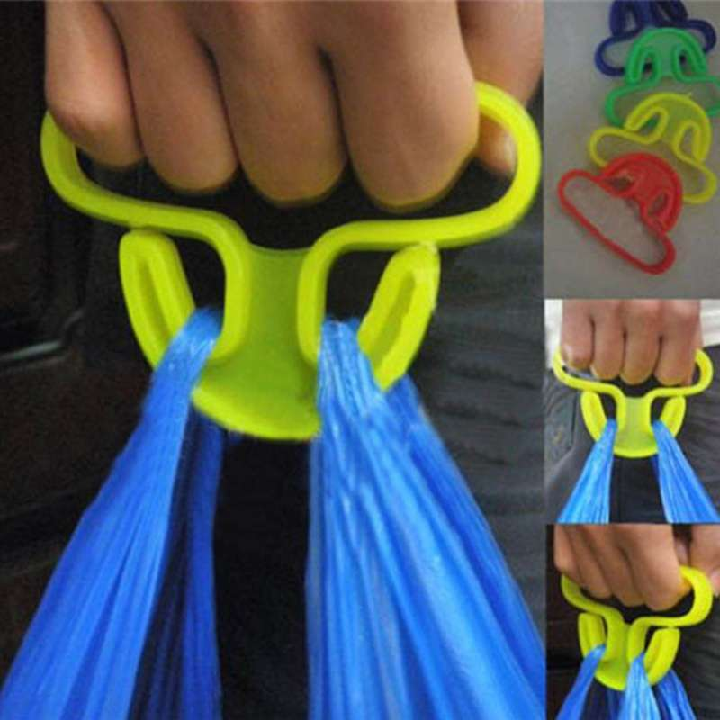 2 pcs Sale Carry Food Machine Handle Carry Bag Hanging Ring Shopping Helper Plastic