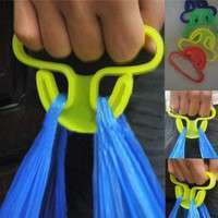H3uN-2 Pcs Sale Carry Food Machine Handle Carry Bag Hanging Ring Shopping Helper Plastic