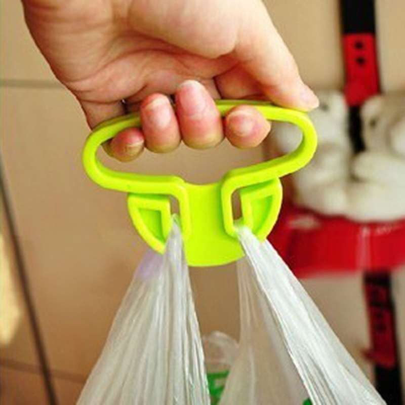 2 pcs Sale Carry Food Machine Handle Carry Bag Hanging Ring Shopping Helper Plastic-1