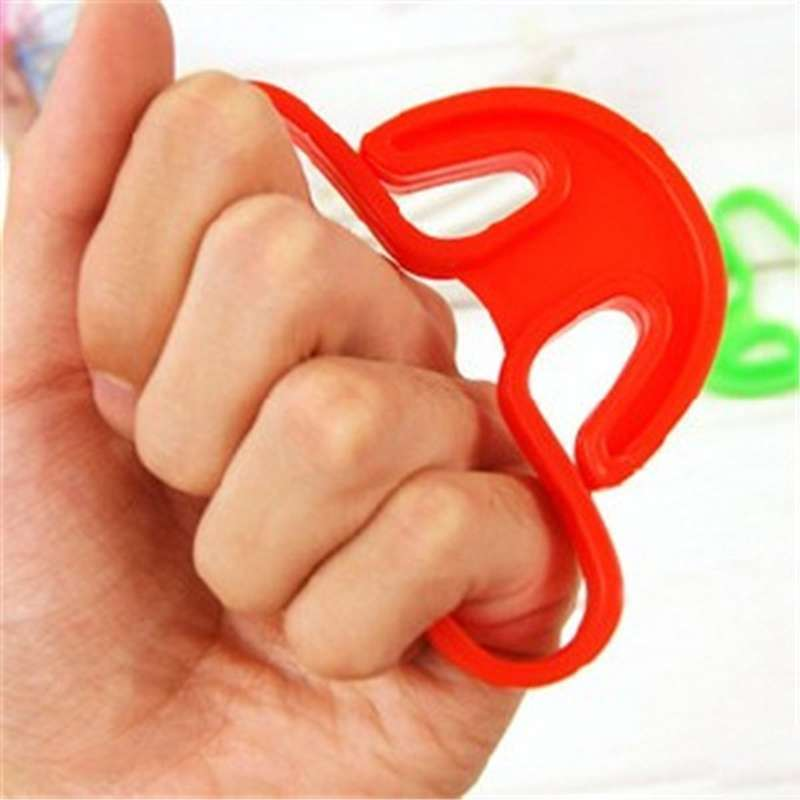 2 pcs Sale Carry Food Machine Handle Carry Bag Hanging Ring Shopping Helper Plastic-3