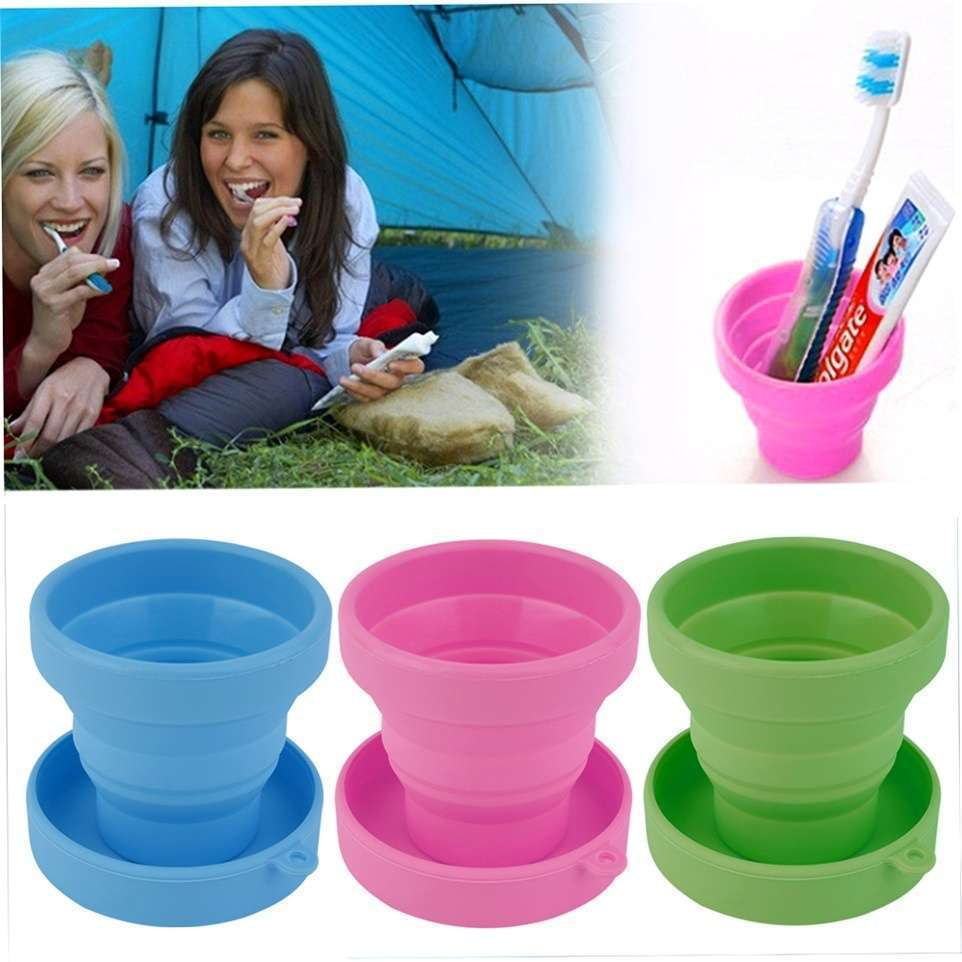 Portable Silicone Telescopic Drinking Collapsible Folding Cup Travel Camping-11