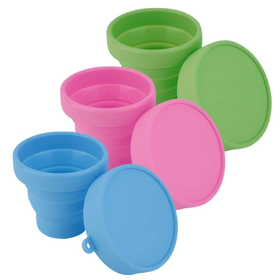 Portable Silicone Telescopic Drinking Collapsible Folding Cup Travel Camping-2