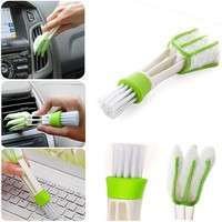 HHO4-Hot Computer Window Air-conditioner Dust Cleaner Car Air Vent Double Ended Brush