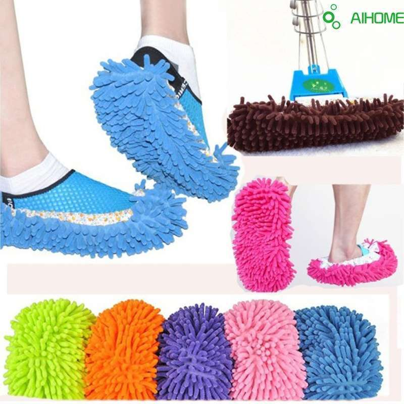 Mop Slipper Floor Polishing Cover Cleaner Dusting Cleaning House Foot Shoes Cove