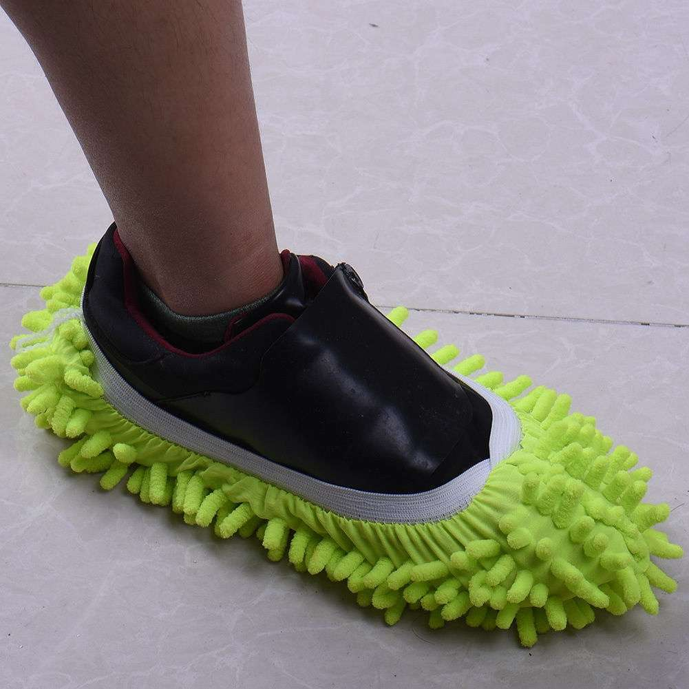 Mop Slipper Floor Polishing Cover Cleaner Dusting Cleaning House Foot Shoes Cove-2