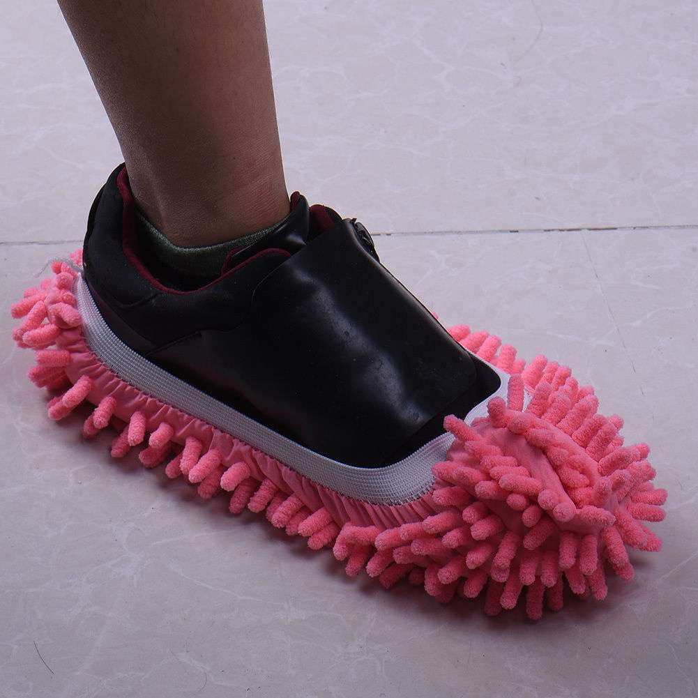 Mop Slipper Floor Polishing Cover Cleaner Dusting Cleaning House Foot Shoes Cove-4