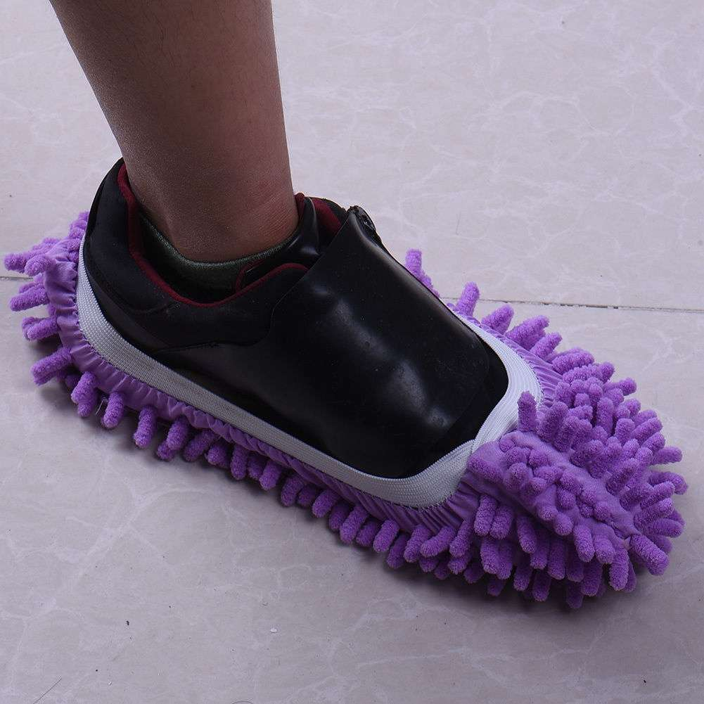 Mop Slipper Floor Polishing Cover Cleaner Dusting Cleaning House Foot Shoes Cove-7